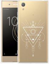 Sony Xperia XA1 Plus Hoesje Abstract Moon White