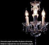 Kristallen Kroonluchter Maria Theresa 3 lichts mini Ø27cm - chroom kristal