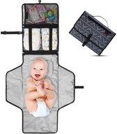 Baby Onderweg Verschonen -Verschoningsmatje Opvouwbaar Waterdicht Luiertas – Donker Blauw