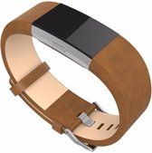 Bandje Leather - Bruin geschikt voor Fitbit Charge 2