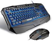 Tecknet Gaming Toetsenbord - Qwerty Inclusief gaming muis