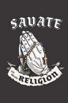 Savate Ist Meine Religion: DIN A5 6x9 I 120 Seiten I Punkteraster I Notizbuch I Notizheft I Notizblock I Geschenk I Geschenkidee