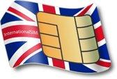 Data simkaart voor Verenigd Koninkrijk, incl. 3GB data