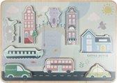 Afbeelding van Little Dutch Houten Puzzelstad speelgoed