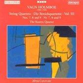 Holmboe: String Quartets Vol 3 / Kontra Quartet