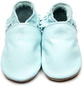Inch Blue babyslofjes moccasin baby blue maat M (12 cm)