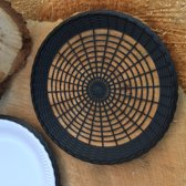 6 zwarte paperplateholders - picknickbord - BBQ bord - feest bord - Smartplates geschikt voor kartonnen / papieren wegwerpbordjes / disposables