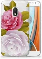 Motorola Moto G4 Play Uniek TPU Hoesje Roses
