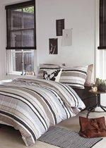 Beddinghouse Lawrence Dekbedovertrek - Eenpersoons - 140x200/220 cm - Grey