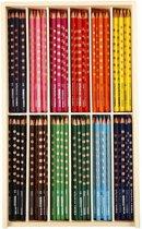 Groove Dunne Kleurpotloden l: 18 cm vulling: 3 3 mm diverse kleuren 144stuks