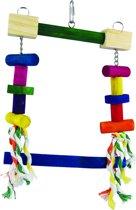 Nobby Houten hanger vierkant - Meerkleurig - 23 x 21 cm