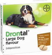 Drontal Large Dog Flavour Ontworming - Grote Hond - 2 tabletten