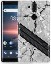 Nokia 8 Sirocco Hoesje Marble Wood