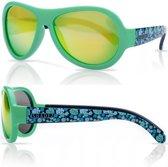 Zonnebril kind - Kinder zonnebril - Shadez - Leaf Print Green 7-15 jr