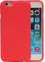 Wicked Narwal | Sand Look TPU Hoesje voor iPhone 6 / 6s Rood