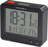ATRIUM wekker - Radiogestuurd - Digitaal - Zwart - A760-7