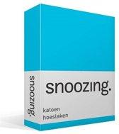 Snoozing - Katoen - Hoeslaken - Lits-jumeaux - 200x220 cm - Turquoise