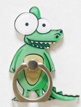 Krokodil: Ring vinger houder / standaard voor telefoon of tablet