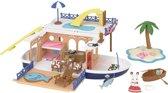 Sylvanian Families 5206 Zeecruiser Woonboot  - Speelfigurenset