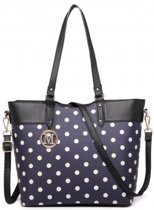 MISS LULU POLKA DOT TOTE BAG (LT1653 NY)