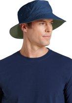 Coolibar UV omkeerbare hoed Heren - Donkerblauw/Donkergroen - maat L/XL (60CM)