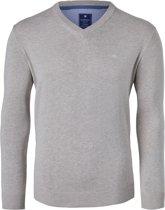 Redmond heren trui katoen - V-hals - grijs -  Maat XL