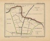 Historische kaart, plattegrond van gemeente Alphen in Zuid Holland uit 1867 door Kuyper van Kaartcadeau.com