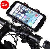 2x Telefoonhouder voor fiets - Smartphone houder - Bike holder - fietshouder telefoon - fietsholder - 360 graden rotatie - iPhone, Samsung , Sony & HTC. - Kleur : WIT - Rheme