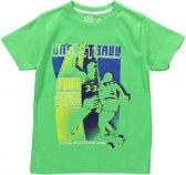 Losan jongenskleding - Groene korte mouwen tshirt met print - 315-1203(101) - maat 92