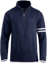 Highland sweater met rits dark navy xs