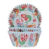 House of Marie Cupcake vormpjes Zeemeermin 50 stuks