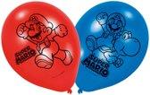 6 Latex balloons Super Mario 22 8cm/9