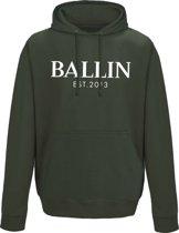 Ballin Est. 2013 - Heren Hoodies Pocket Hoodie - Groen - Maat XXL
