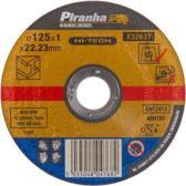 Piranha Doorslijpschijf metaal, 1,0 mm. x 125mm X32637