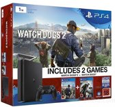 Sony Playstation 4 Slim 1TB WatchDogs 1&2   USK 18