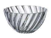 Scalop FRUITSCHAAL van kristal 28 cm