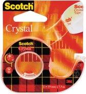 36x Scotch Plakband Crystal 19mmx7,5 m, blister met 1 afroller met 1 rolletje