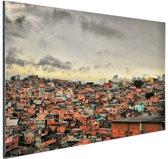 Favela Paraisopolis Aluminium 120x80 cm - Foto print op Aluminium (metaal wanddecoratie)