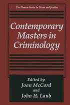 Contemporary Masters in Criminology