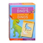 Zo teken je dino's - 16 leuke sjabloonkaarten