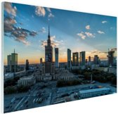 FotoCadeau.nl - Warschau skyline Glas 30x20 cm - Foto print op Glas (Plexiglas wanddecoratie)