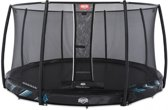 BERG Trampoline Champion Inground 430 Black Limited Edition + Safetynet Deluxe - met Airflow - zwart