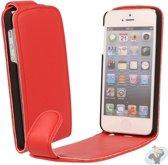 iPhone 5 Leren Flip Hoesje Business-Class Rood