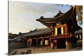 Prachtige gebouwen bij Changdeokgung Aluminium 120x80 cm - Foto print op Aluminium (metaal wanddecoratie)