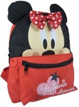 Disney Rugzak Minnie Mouse Oortjes Rood 24 X 10 X 30 Cm