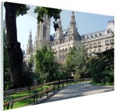 Stijlvol Wenen Glas 90x60 cm - Foto print op Glas (Plexiglas wanddecoratie)