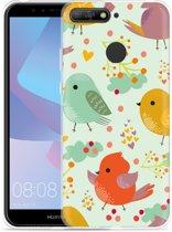 Huawei Y6 2018 Hoesje Cute Birds
