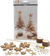 Faux Leather Kerstboom, dikte 0,55 mm, naturel, 1set
