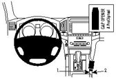 Brodit ProClip Mounting Platform voor de midden console - Toyota Landcruiser