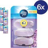 Ambi Pur Lavender Navulling - Voordeelverpakking 3x6 Stuks - Toiletblok